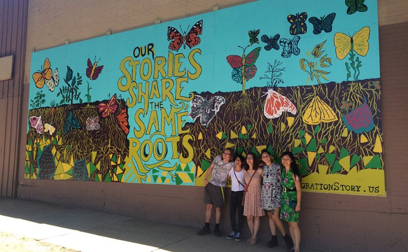 Learning to see getting to the root of what makes us who for Community mural project