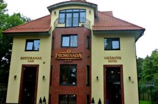 the hotel promenada in Klaipeda old town