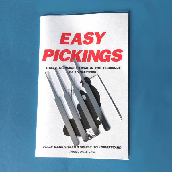 Beginners Lock Pick Set - 5 Piece Set With Instruction Manual - instruction manual