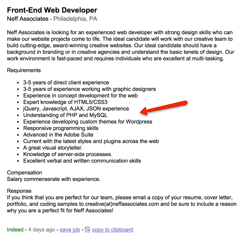 Entry Level Resume Objective Examples Do You Have What It Takes To Be A Front End Developer