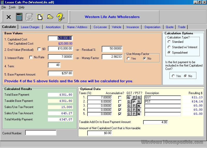 Lease Calc Pro 300 Free download