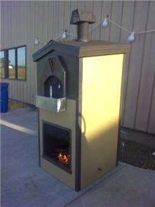 """""""Side view of the oven."""""""