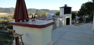 21' Outdoor Kitchen w/ LC Oven Designs Octagon Pizza Oven