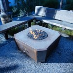 Industrial Outdoor Fire PIt with Bench Area.