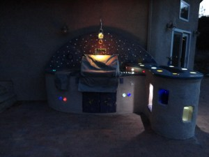 Astronomy Themed Outdoor Kitchen