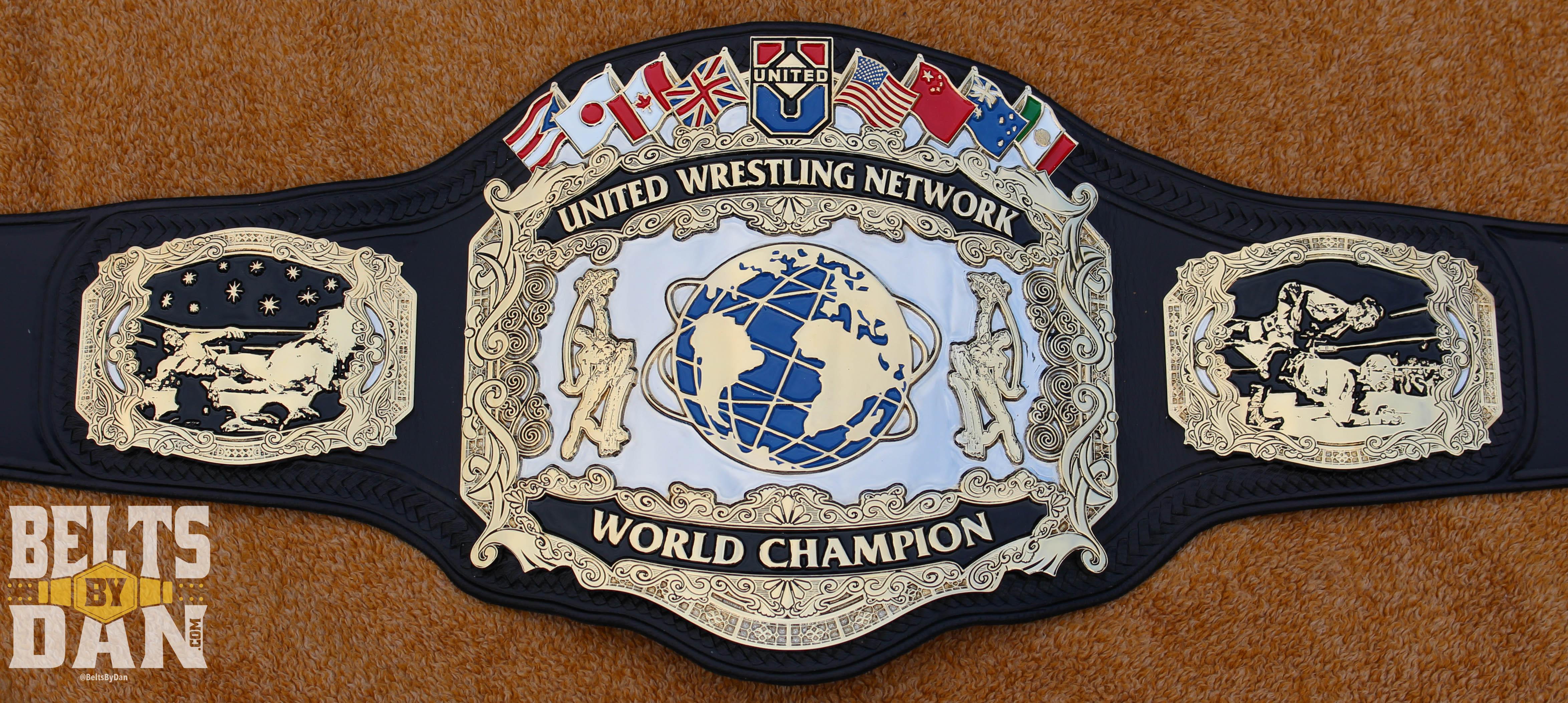 United Wrestling Network World Championship Belts By Dan
