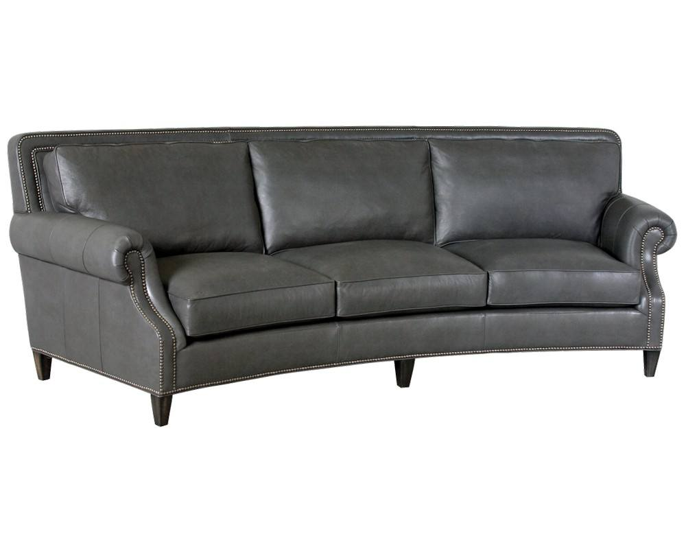 Curved Sofa Classic Leather Paxton Curved Sofa 8653