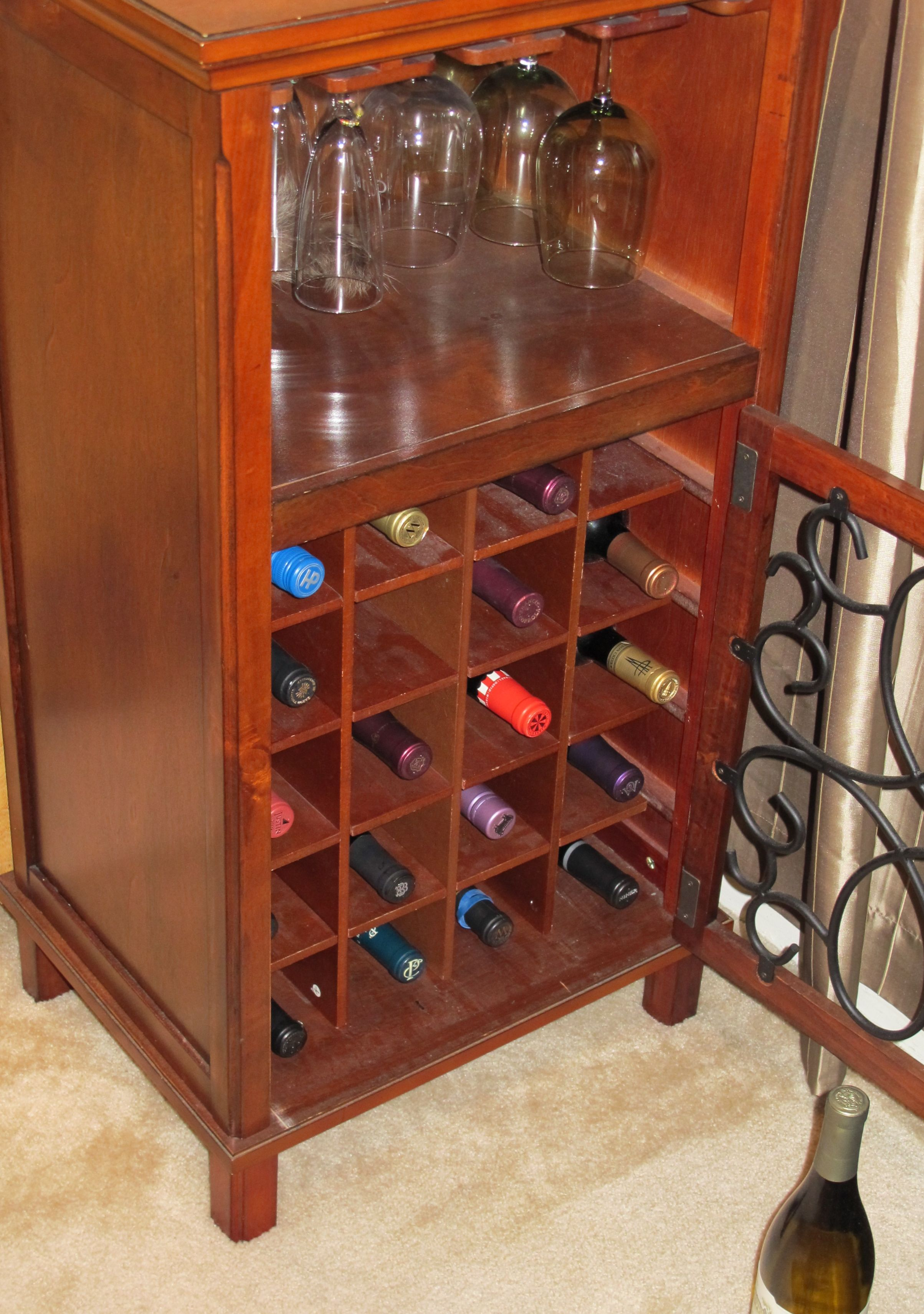 Diy Wine Cabinet Plans Building Wine Storage In An Armoire Leaving Celestia