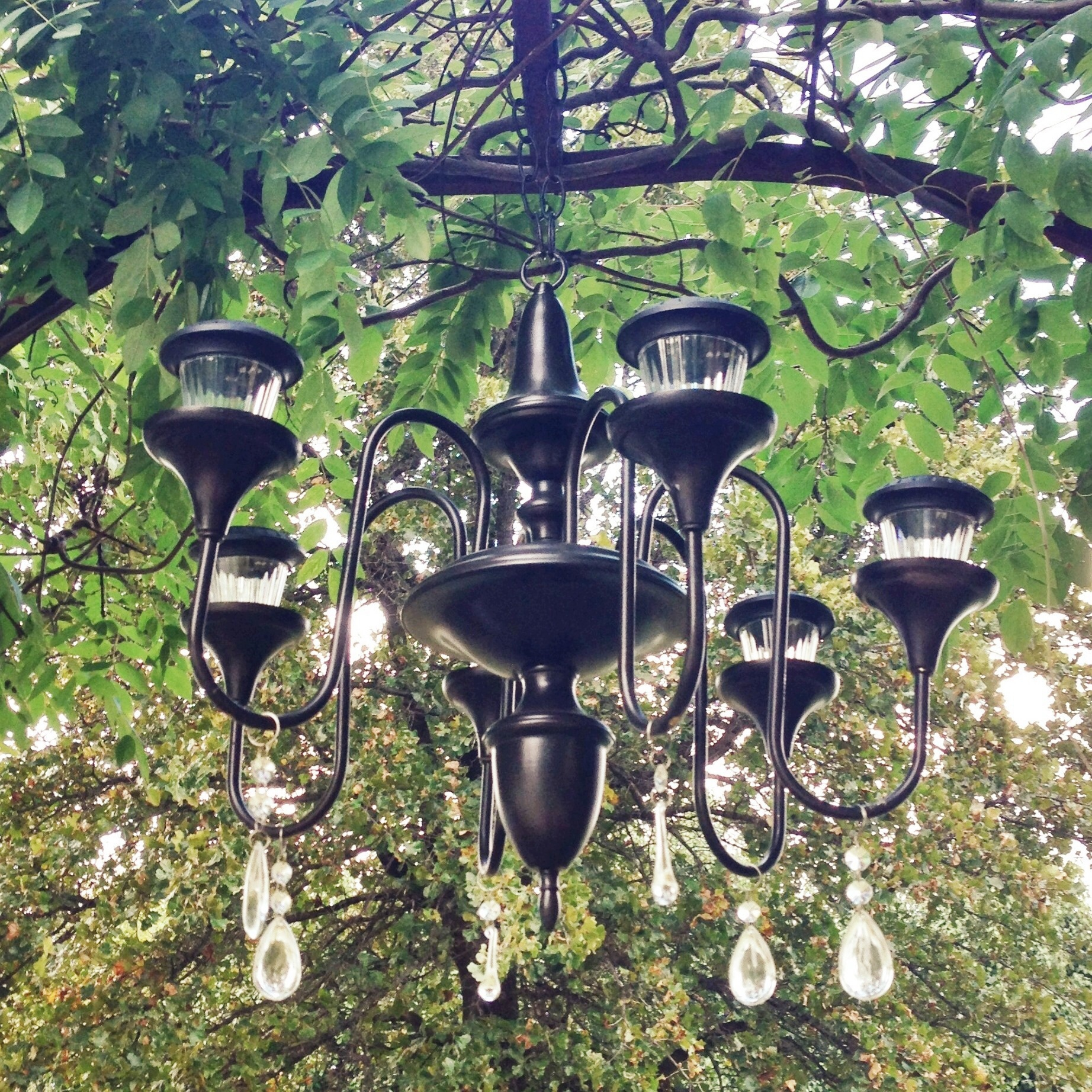 Solarlicht Garten Garden Chandelier Leaving Our Trail