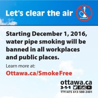 Water Pipe Smoking Ban : Lebanese In Ottawa
