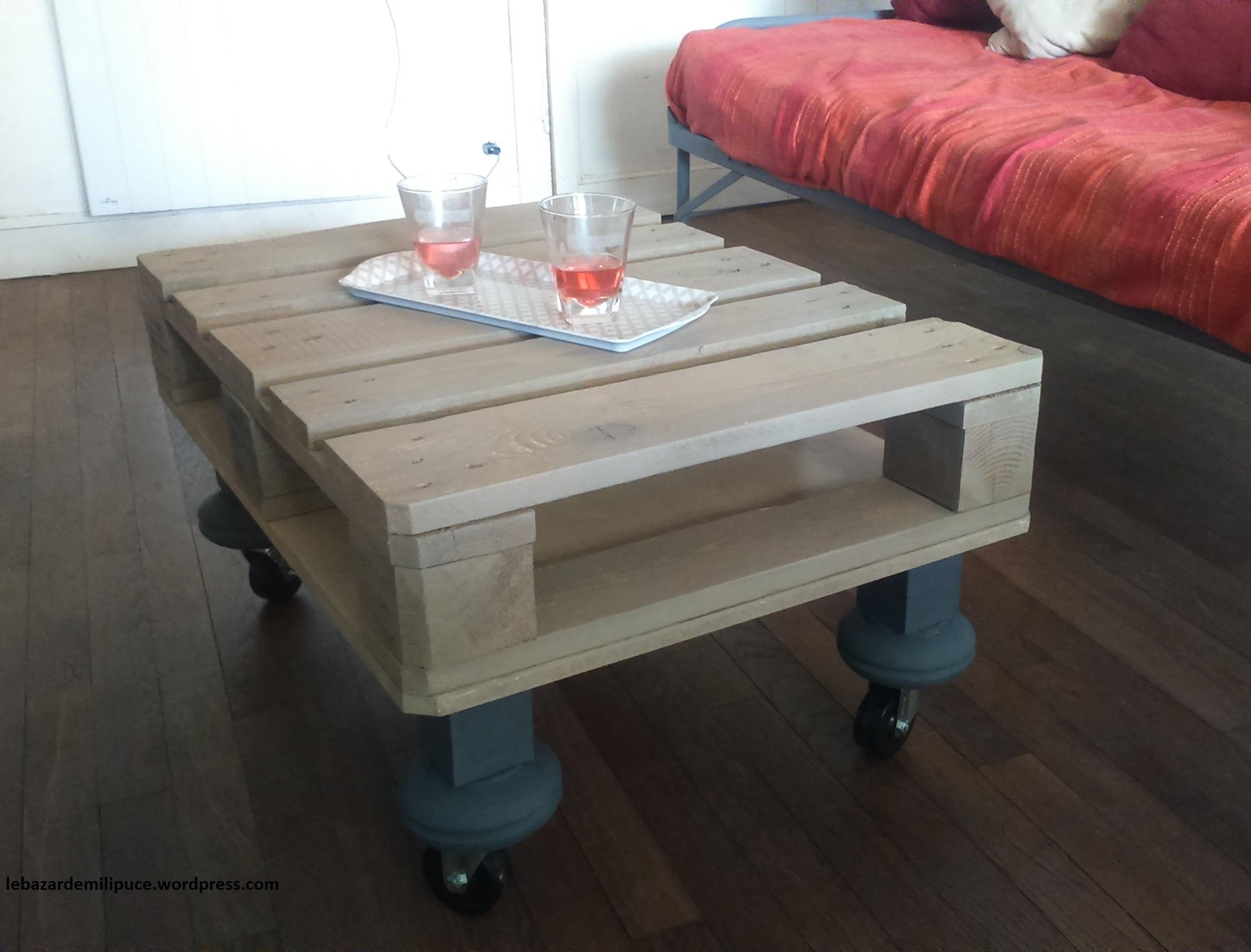 comment faire une table basse avec des palettes | table basse en