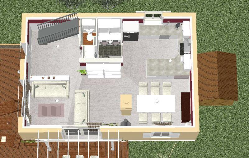Notre future maison à Levens\u2026 » Les plans avec le futur aménagement - Amenagement De La Maison
