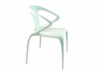 La chaise ava de song wen zhong pour roche bobois le for Chaise cuir roche bobois prix