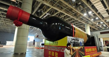 Giant bottle of wine