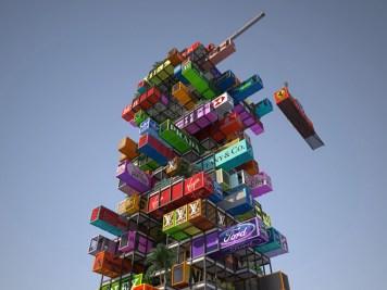 maison conteneurs gratte-ciel