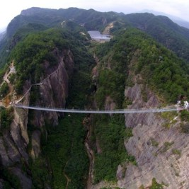 Chinese Skywalk pont en verre chine