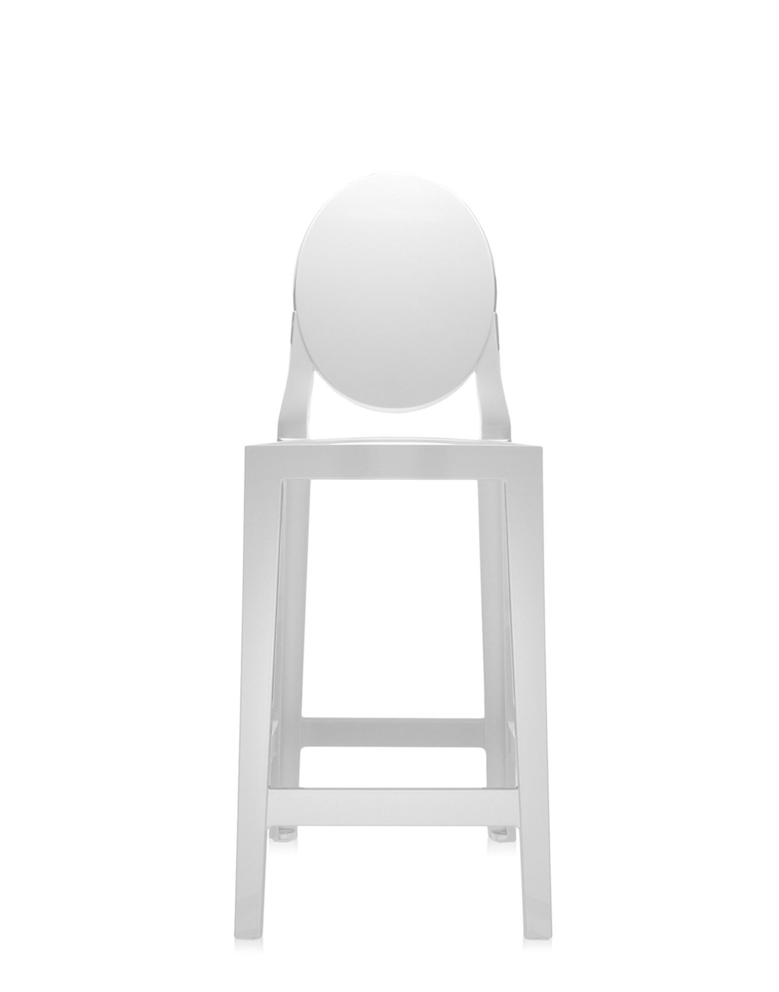 Tabouret De Bar Assise 65 Tabouret One More De Kartell H 65 Blanc