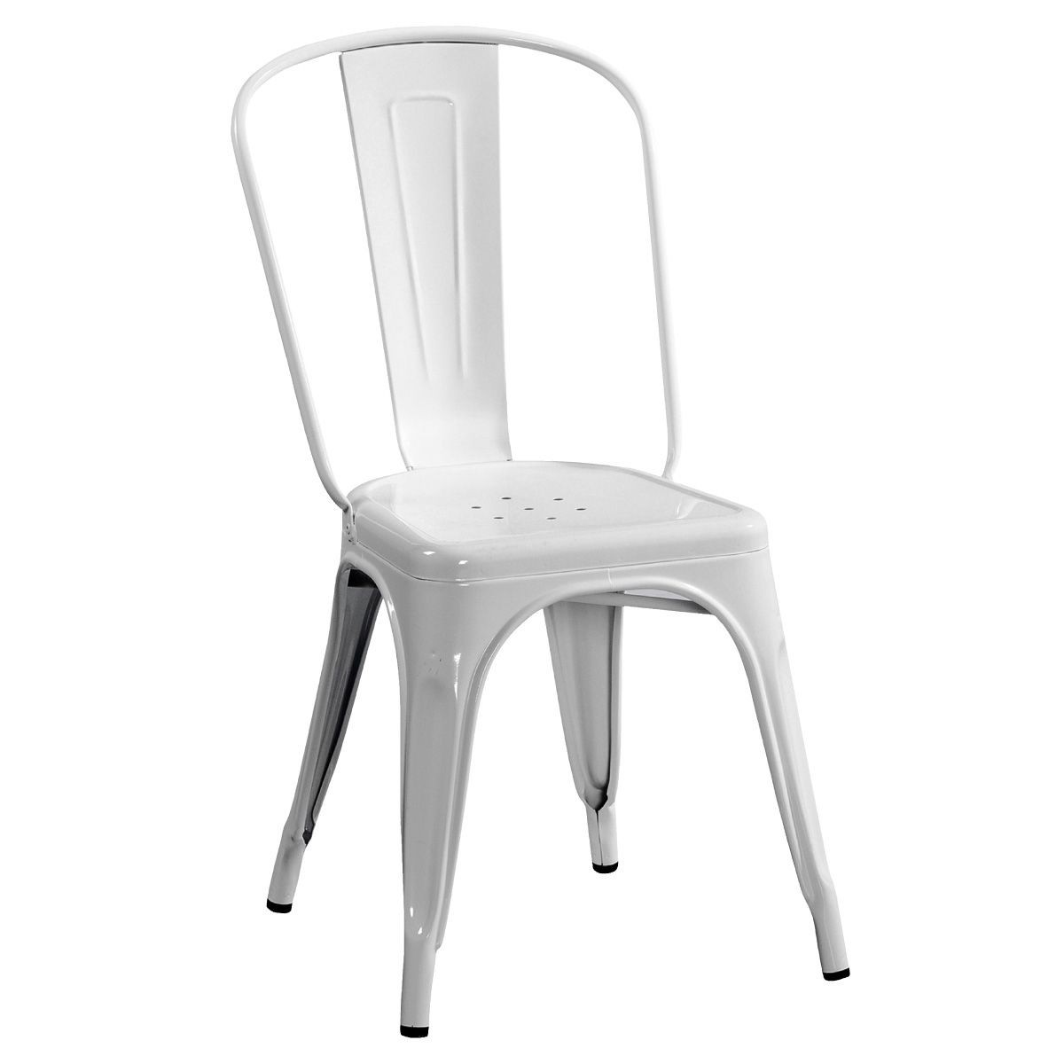 Chaise Industrielle Tolix Chaise Tolix Blanc Table De Lit A Roulettes