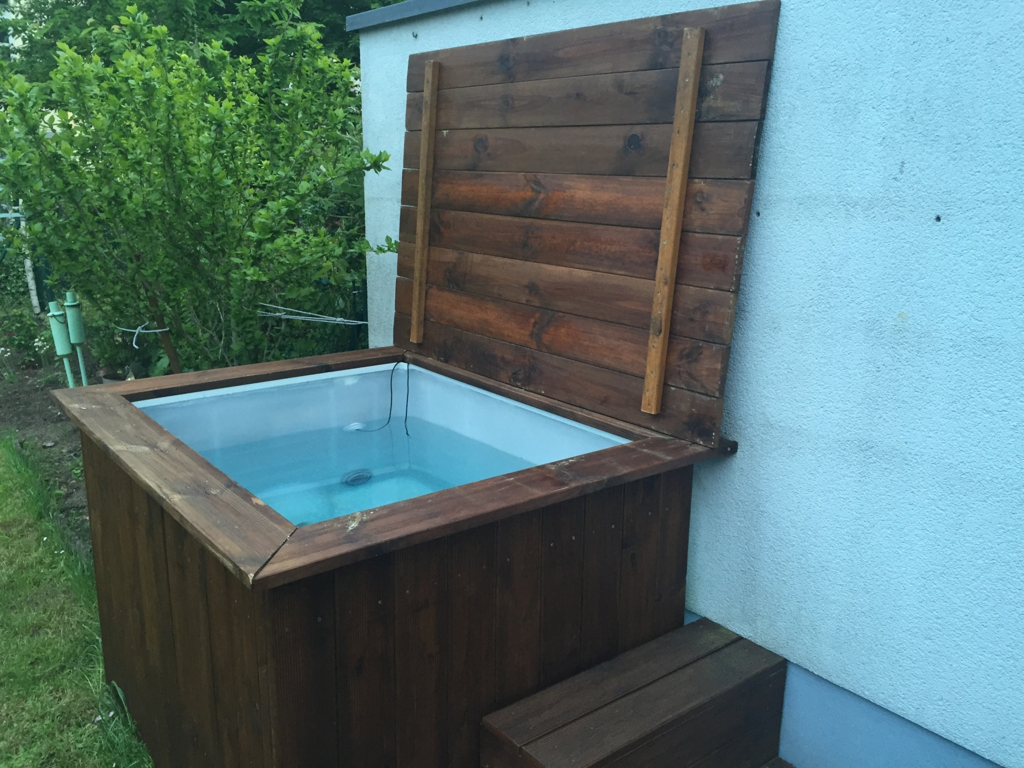 Poolabdeckung Eigenbau Diy Whirlpool Der Deckel Leckemojito You Are On The