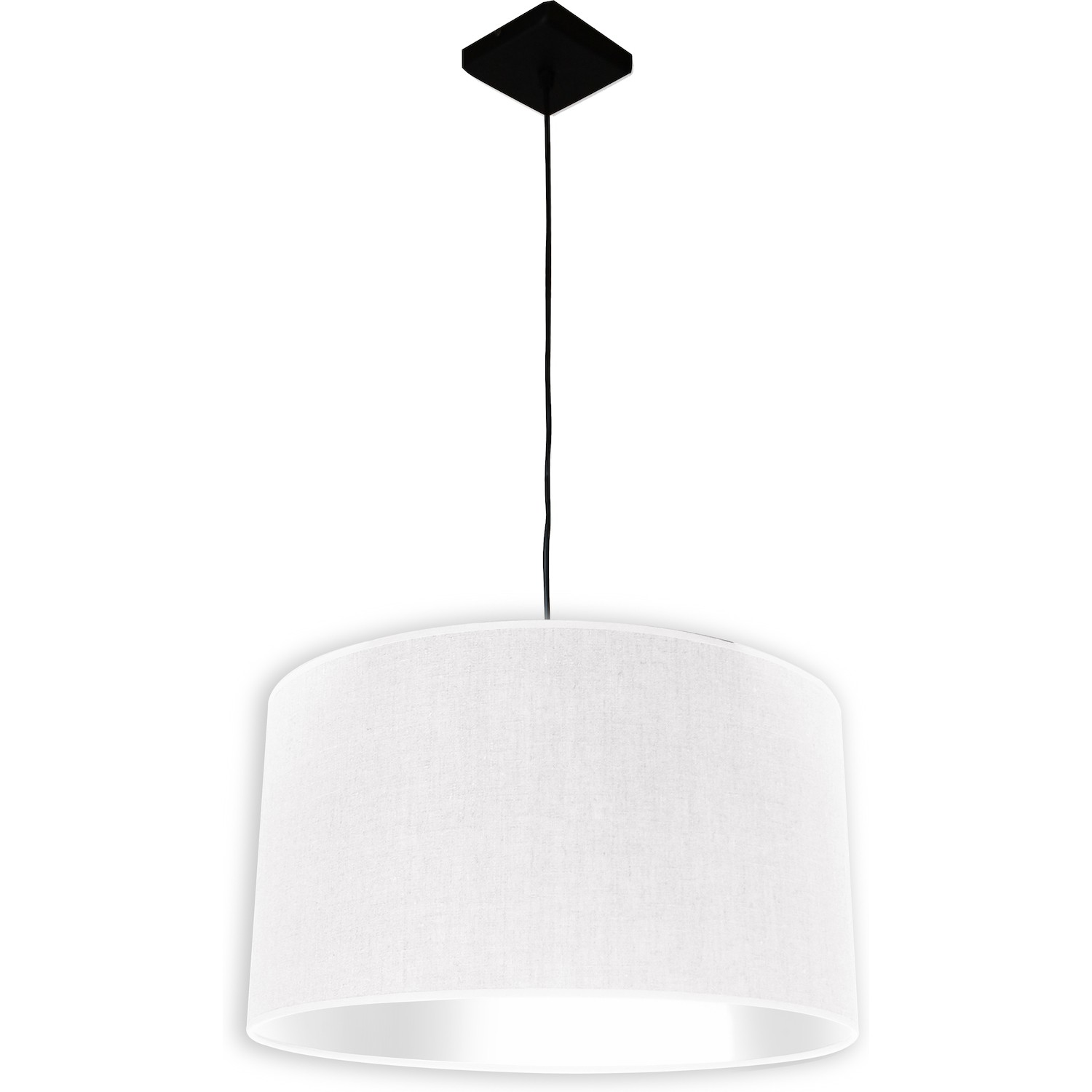 Suspension Lin Suspension 1 Lampe Abat Jour Tissu