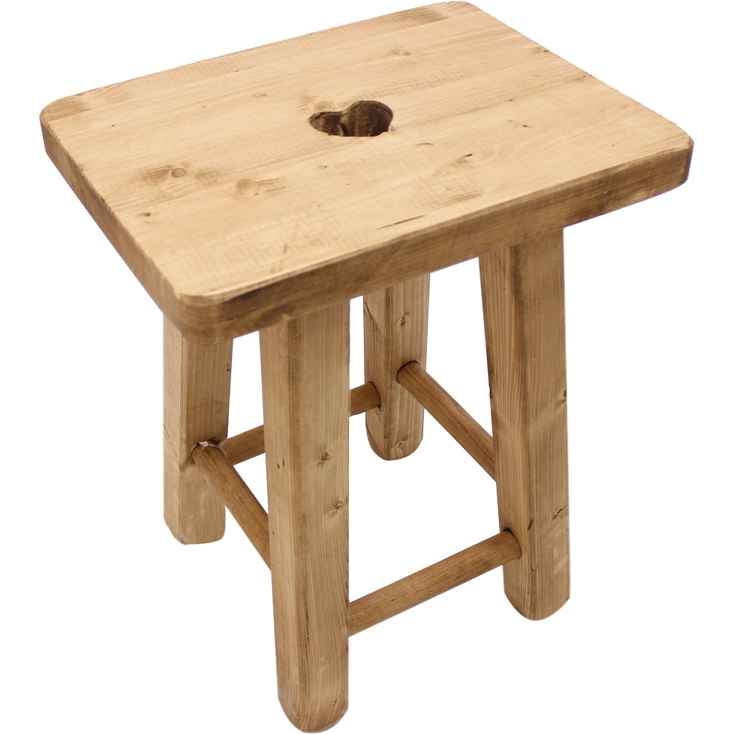 Tabourets Bois Brut Tabouret Rectangle Coeur