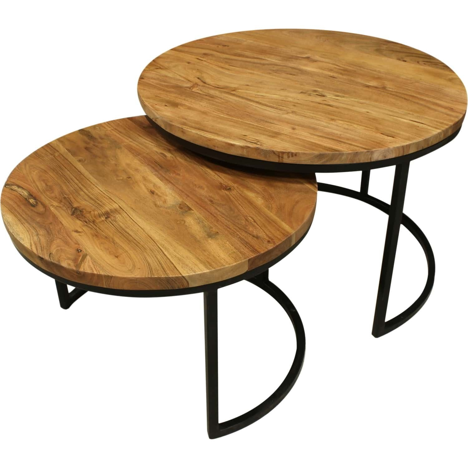 Tables Gigognes Tables Basses Gigognes Bois Et Metal