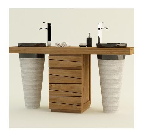 Meubles salle de bain  mobilier bois  teck - LeComptoirdesAuthentics
