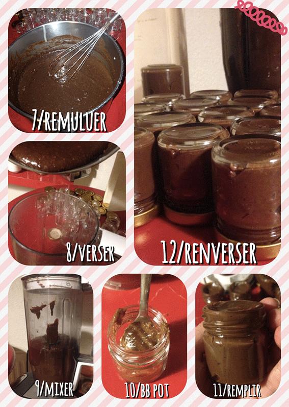 Un joli cadeau gourmand: un petit pot de nutella maison