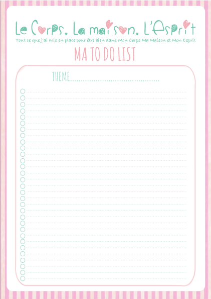 To Do List à imprimer, printable offert