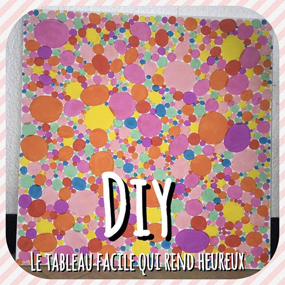 DIY pour réaliser un tableau trés coloré et facile