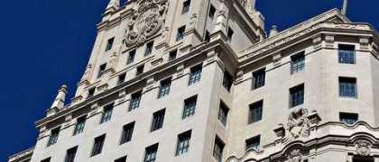 Siège de Telefónica à Madrid (Gran Vía).-Crédits : Flickr/ CCommons/ avillaltal