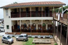 Exterior of the new Hope Center within the Ingnace Deen Hospital in Conakry