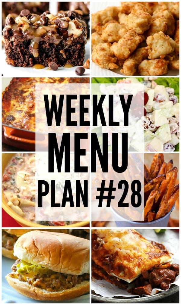 Weekly Menu Plan 28 Favorite Family Recipes