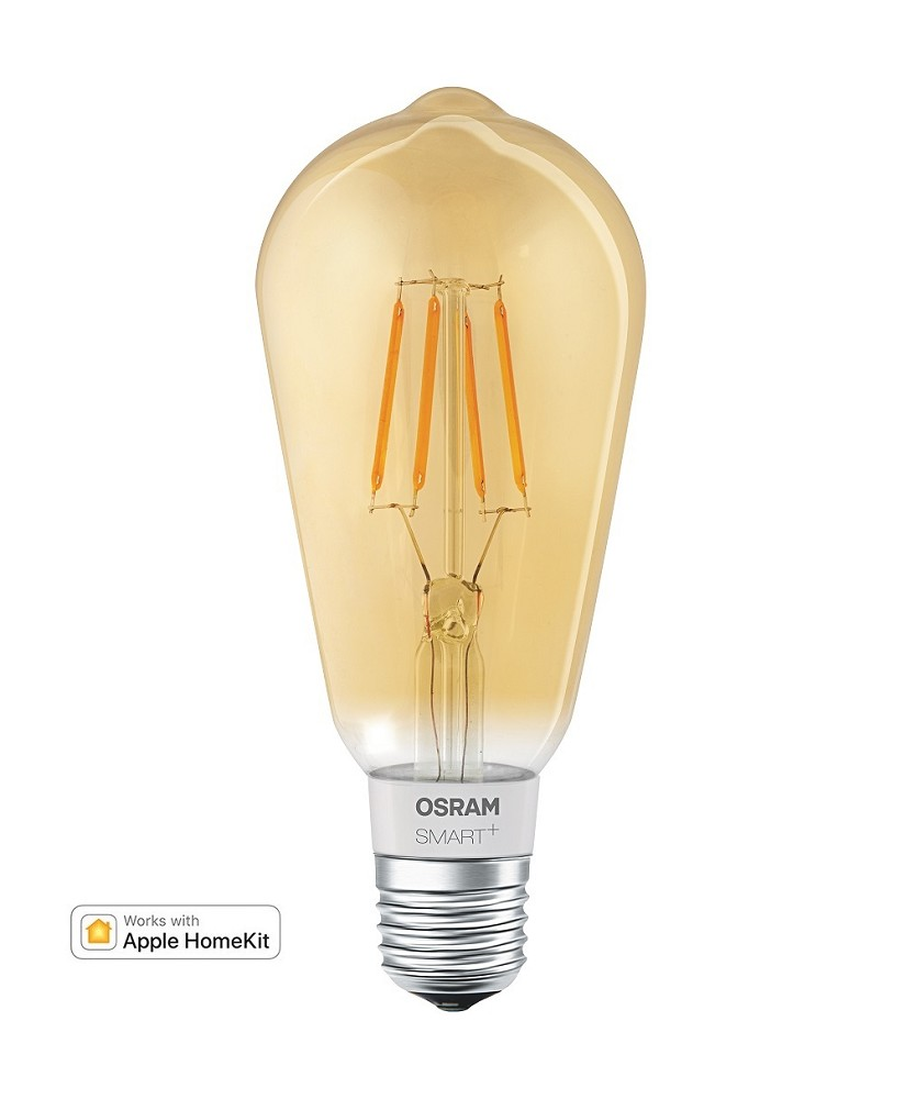 Edison Lampe Led Led Lampe Für Apple Homekit Osram Smart Filament Edison E27 Gold