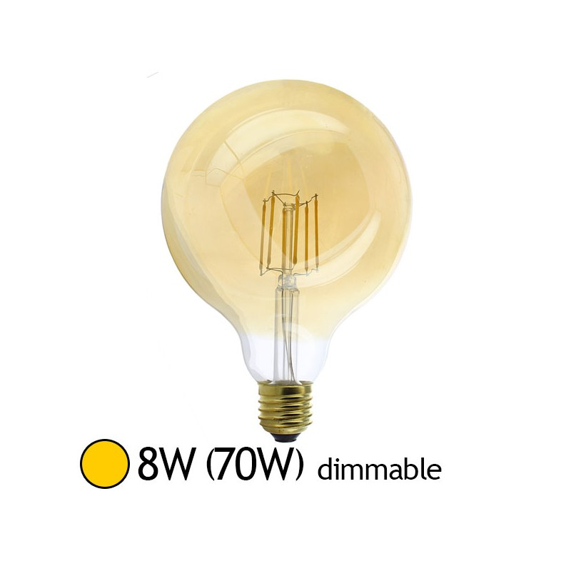 Projecteur Led Exterieur Dimmable Ampoule Led 8w (70w) E27 Dimmable Filament Globe Doré