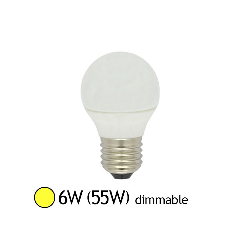 Projecteur Led Exterieur Dimmable Ampoule Led 6w (55w) E27 Dimmable Boule Opale Blanc Chaud