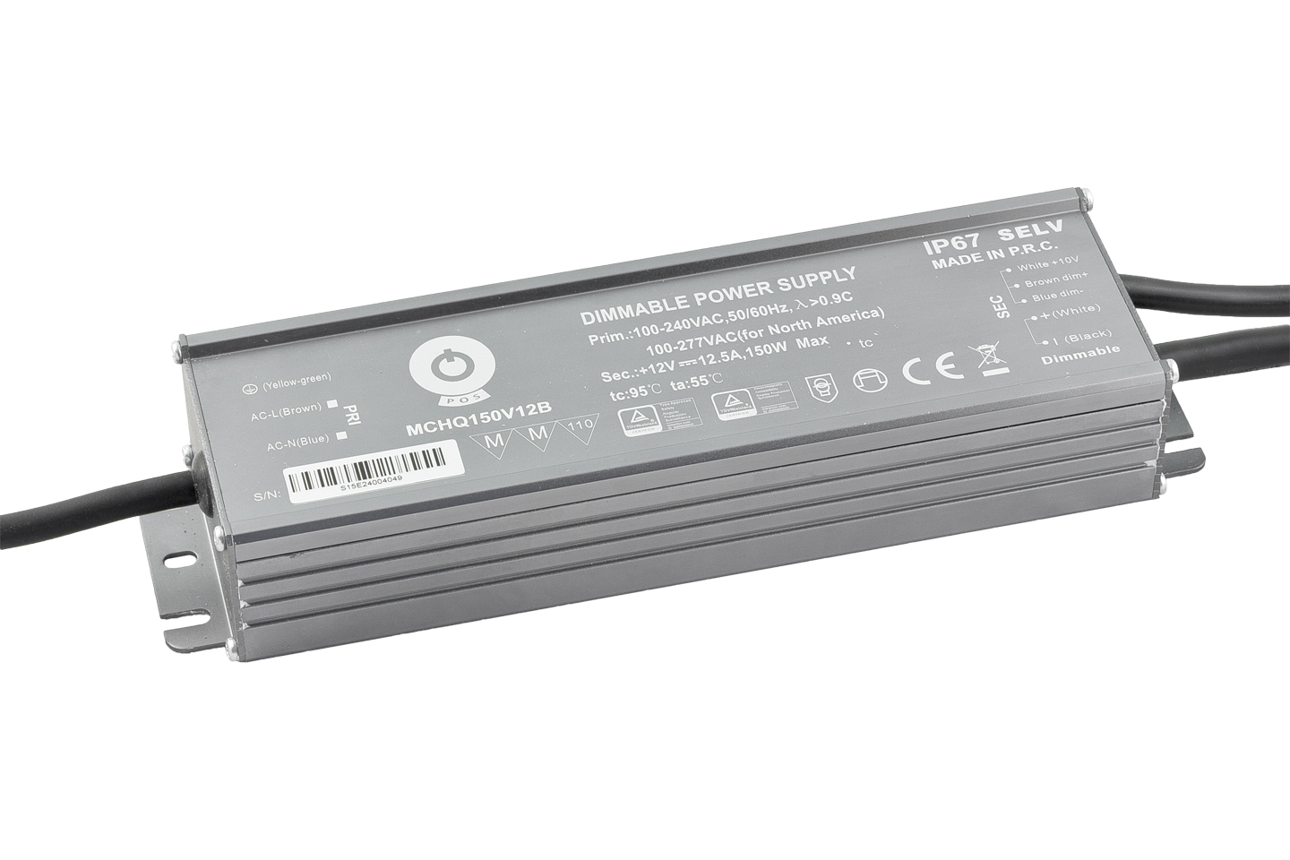 Trafo Verlichting Dimbare Led Voeding 150 Watt 12 Volt 12 5 Ampere Ip67