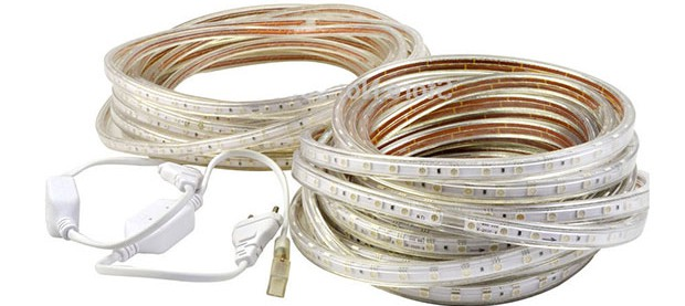 LED strip 220V, connect and difference strip at 12 volts