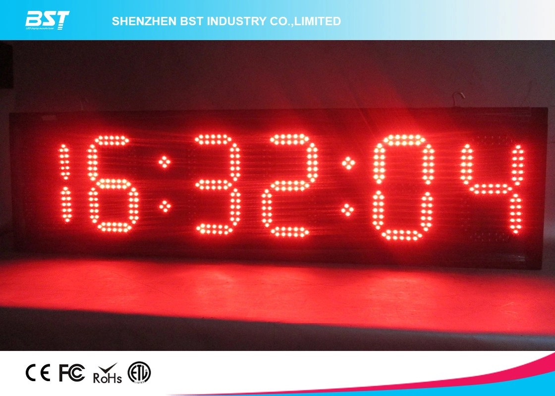 Small Led Clocks Modern Small Led Clock Display Semi Outdoor Accurate