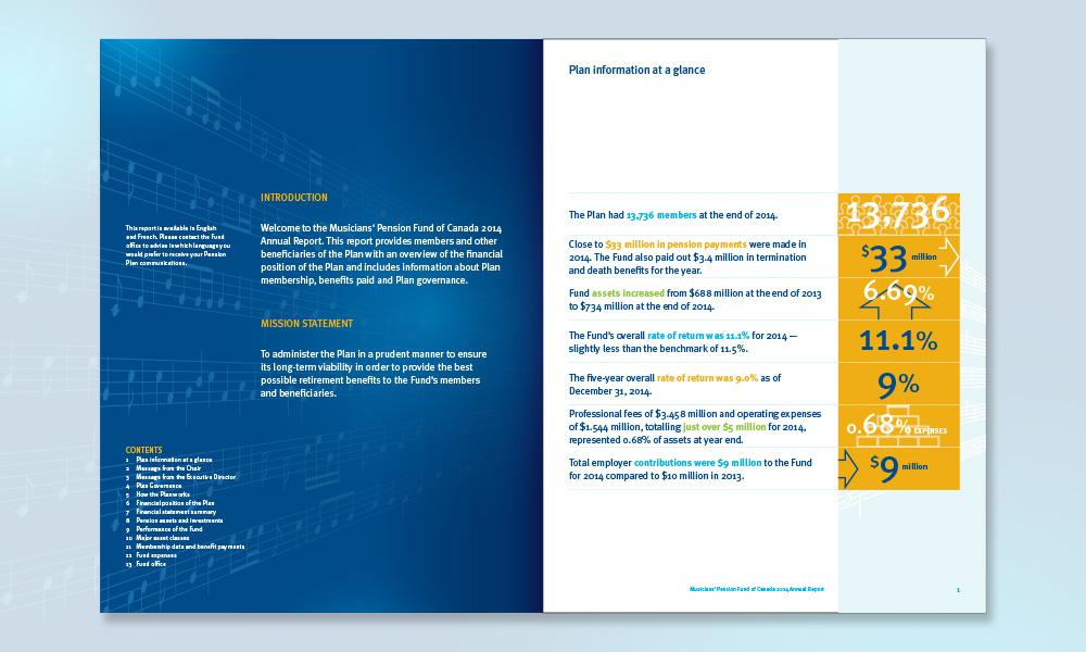 Musicians\u0027 Pension Fund of Canada, Annual Reports  Ledden Design iT