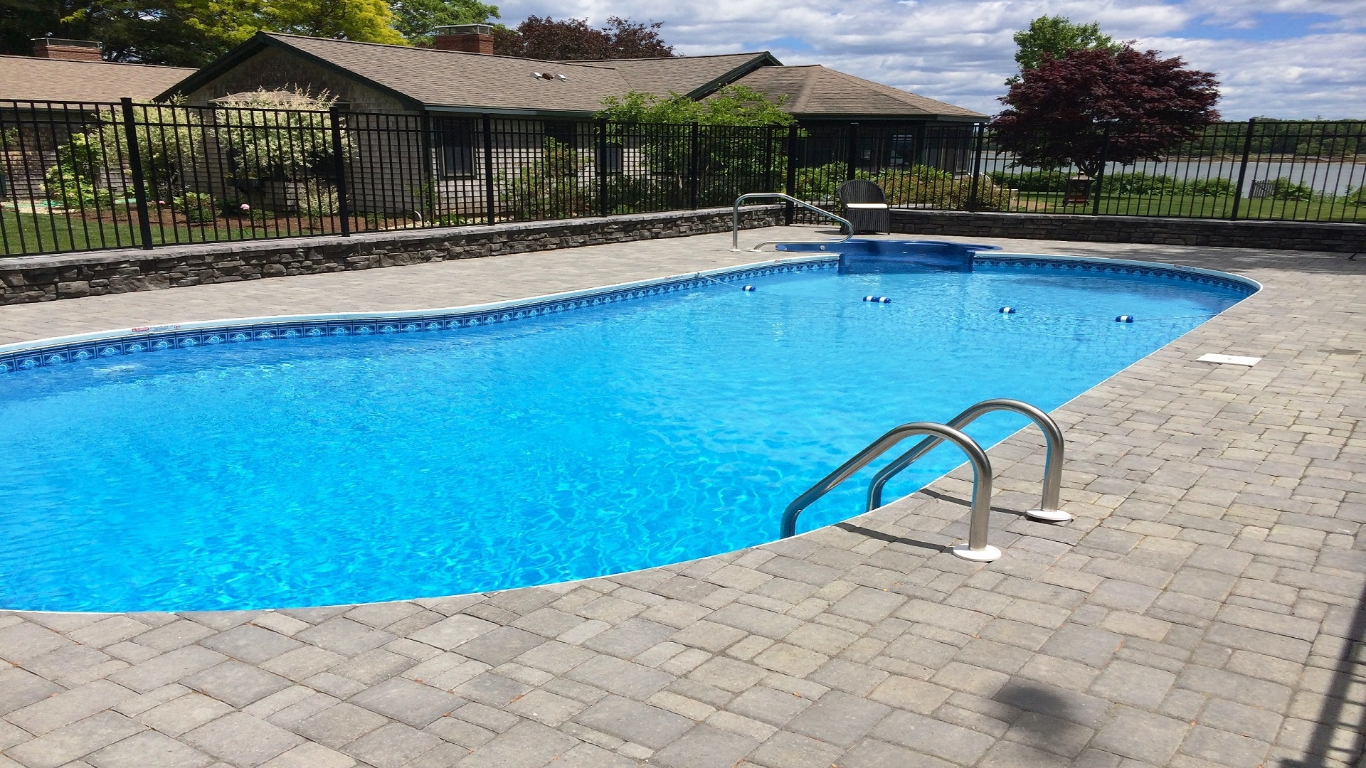 Pool With R Inground Pool Installations Ledgewater Pools Falmouth Maine