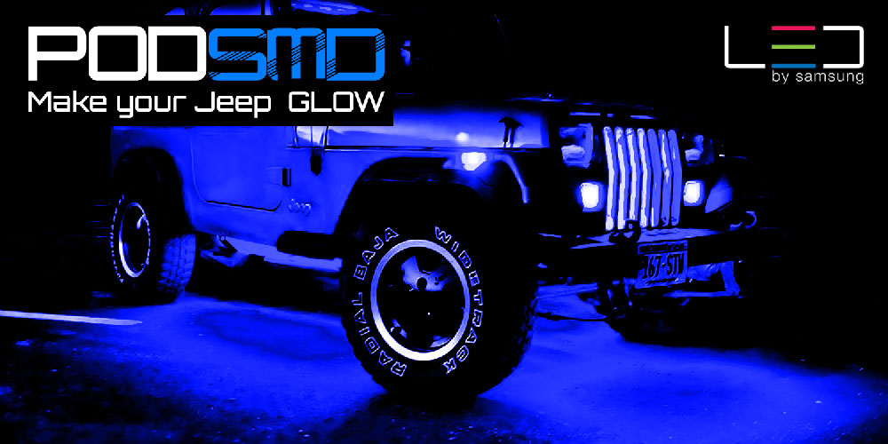 Harley Led Lighting Kit Led 4x4/off Road/jeep Under Body Rock Lights Ultra Bright