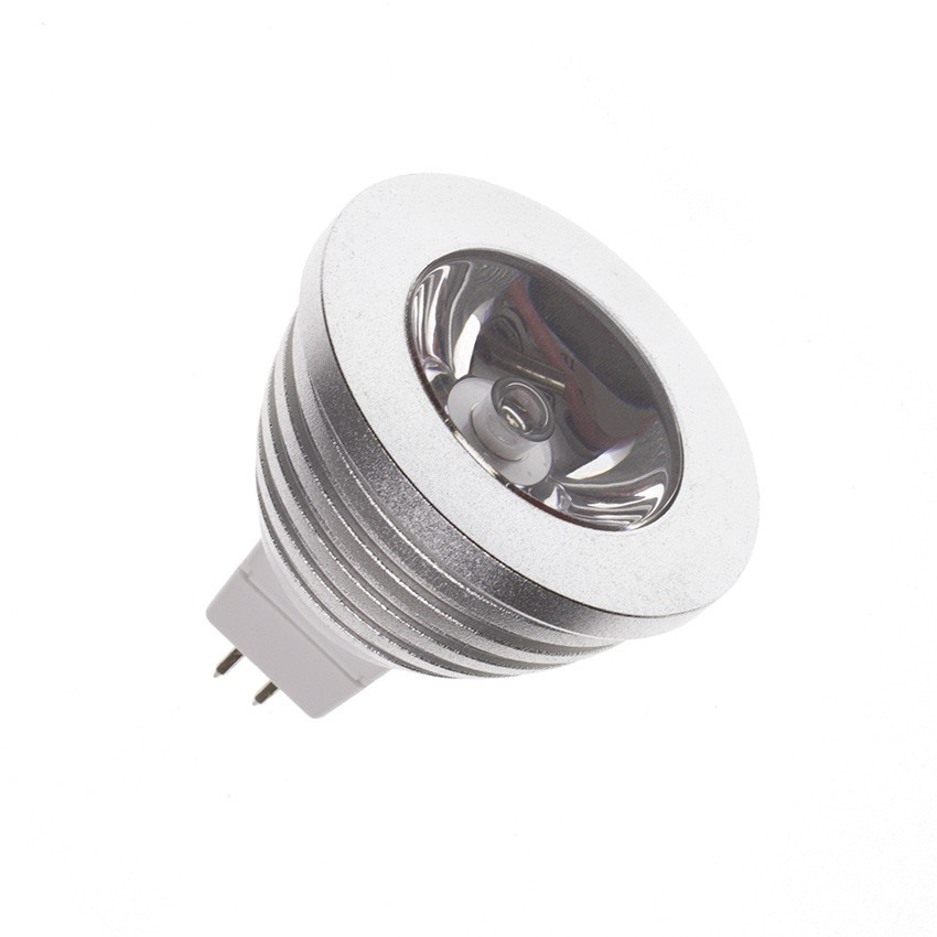 éclairage De Secours Led Ampoule Led Gu5.3 Mr16 12v Dc Rgb 60º 3w - Ledkia France