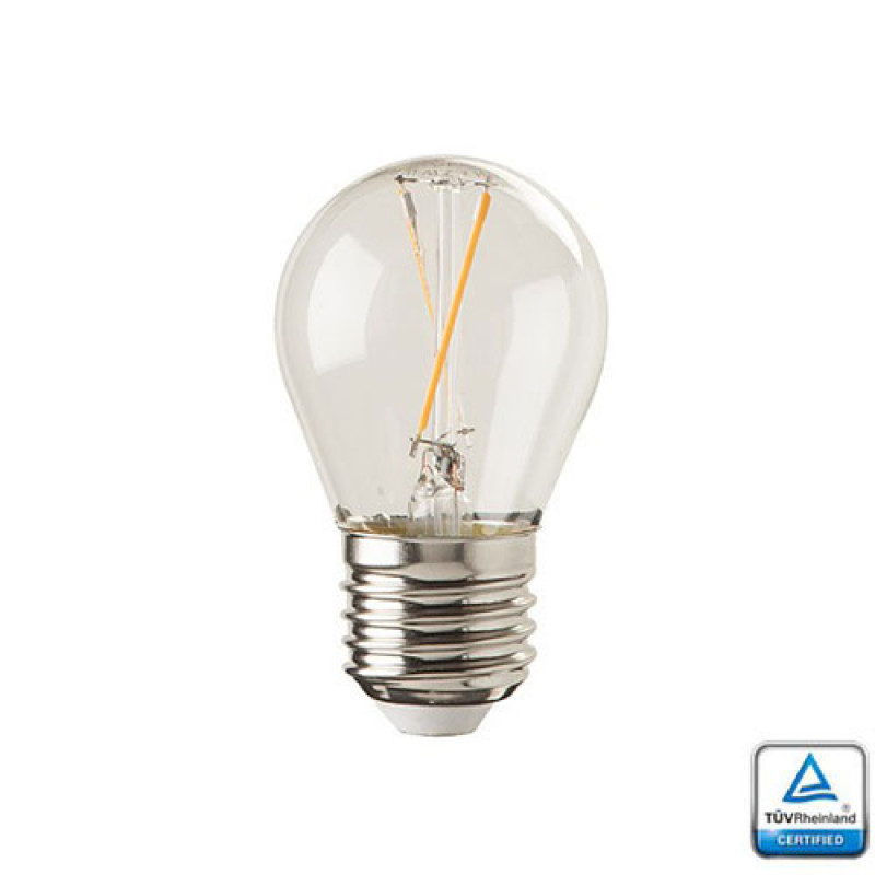 Led Grondspot E27 Led Lamp Filament Velino 1,5 Watt 2700k Tuv