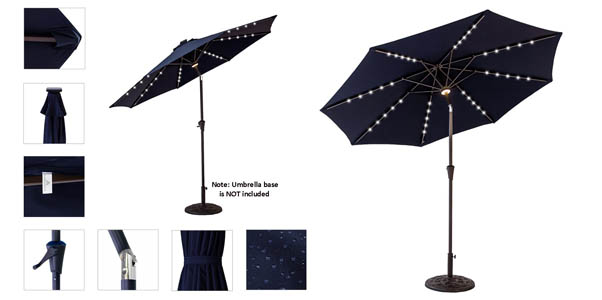 Best Patio Umbrella Lights For Outdoors Incl Solar
