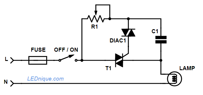 wiring a dimmer lamp