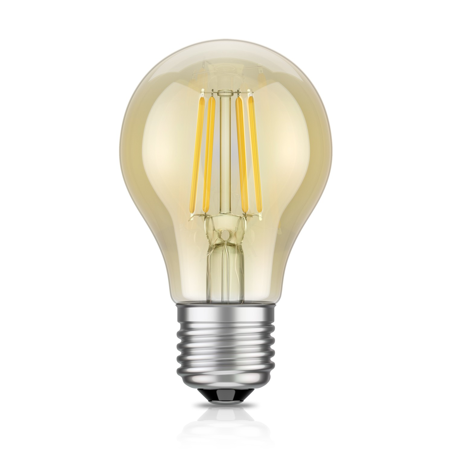 E27 Lampe E27 Led Lampe Filament Vintage Gold A60 4w 40w Extra Warm