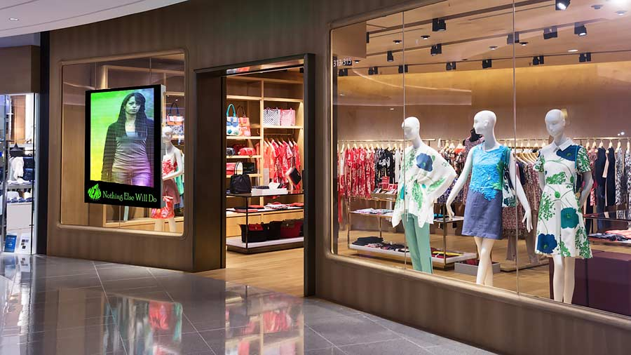 Led Projector Inside Led Digital Signage For Retail Stores | Retail Digital Signage