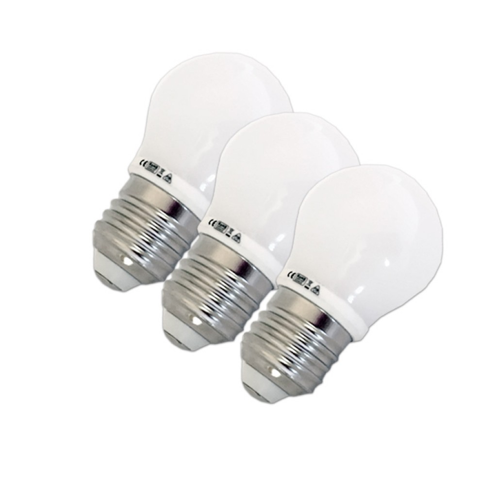 Lamparas Led 3w Pack Ahorro 3 Bombillas Led 3w E27 G45 Luz Cálida