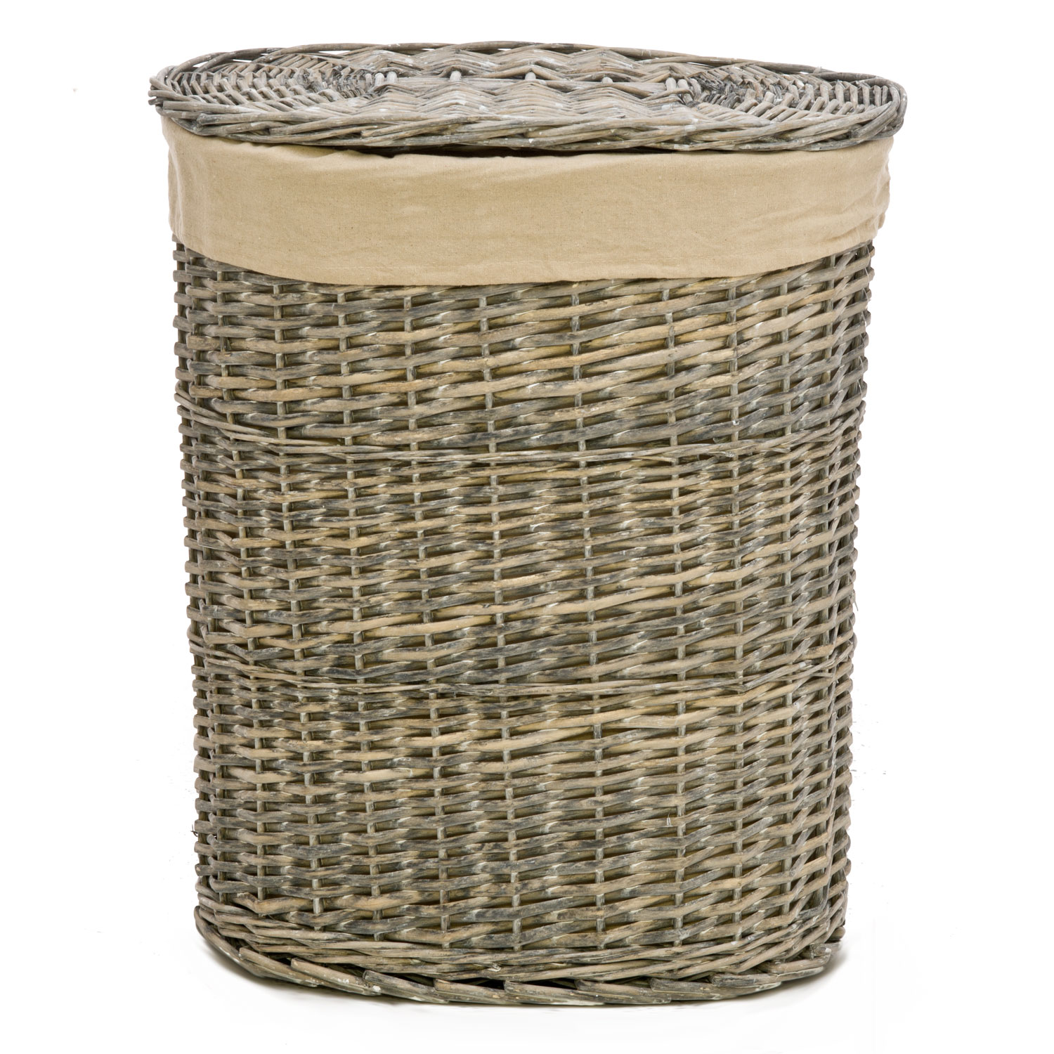 Closed Laundry Basket Willow Laundry Bin Natural